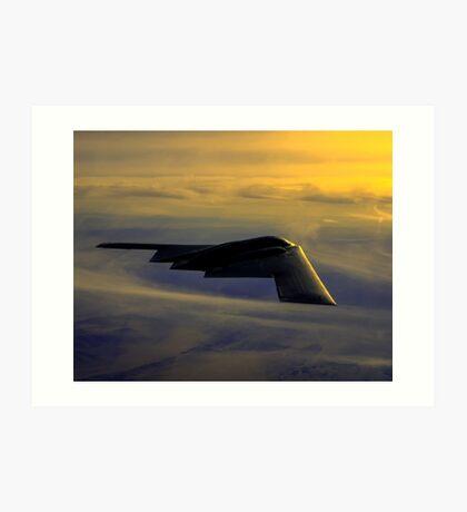 B-2 Spirit Bomber USAF digital painting Art Print