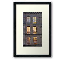 Salts Mill windows Framed Print