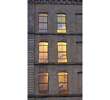 Salts Mill windows Photographic Print