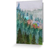 Misty Fog and Color over Ketchikan Alaska Greeting Card