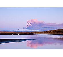Eruption on Eyjafjalla Glacier #5 Photographic Print