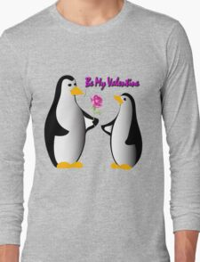 penguins in love proposing Long Sleeve T-Shirt