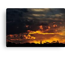 Red Glow at Night Canvas Print