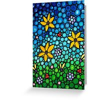 Spring Maidens - Colorful Flower Art By Sharon Cummings Greeting Card