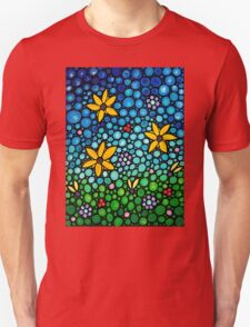 Spring Maidens - Colorful Flower Art By Sharon Cummings T-Shirt