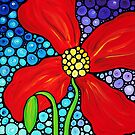 Lady In Red - Colorful Red Poppy Painting By Sharon Cummings by Sharon Cummings