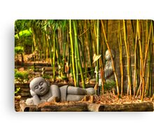 Lazy Buddha Canvas Print