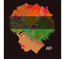 Pan-African Flag Flower 'Fro ver. 3 Photographic Print