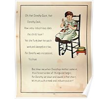 The Glad Year Round for Boys and Girls by Almira George Plympton and Kate Greenaway 1882 0032 Dorothy Cook Poster