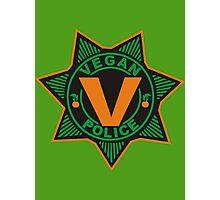 Vegan Police Photographic Print