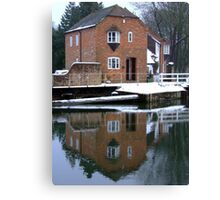 Reflections - Kennet and Avon Canal Canvas Print