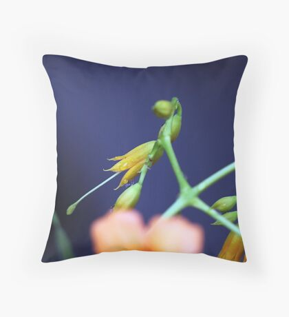 Droplets on a bud. Throw Pillow