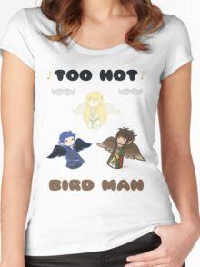 Derp Emblem: Too Hot, Bird Man Shirt Women's Fitted Scoop T-Shirt