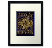 ©DA FS Gold And Blue 2D IAB. Framed Print