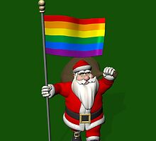 Santa Claus With Rainbow Flag by Mythos57