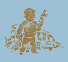 Fallout 3 Vault Boy with Gun Kids Clothes