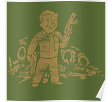Fallout 3 Vault Boy with Gun Poster