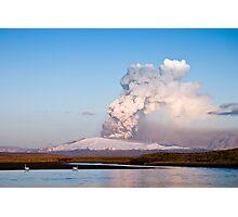 Eruption on Eyjafjalla Glacier #2 Photographic Print