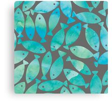 WATER COLOURED FISH Canvas Print