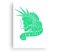 New York - Statue of Libery Skull (no background) Canvas Print