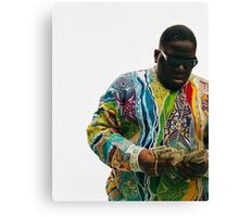 Notorious Big Counting Money Canvas Print