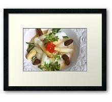 Morel and Asparagus Framed Print