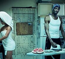Snoop Dogg Poster Ironing Money by Edward  Landstreet