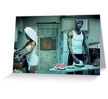 Snoop Dogg Poster Ironing Money Greeting Card