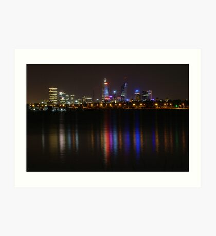 Bright Lights of Perth ~ Western Australia Art Print