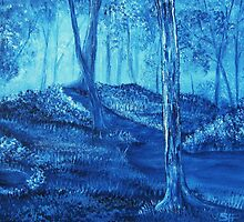 'Woods in Blue - A new perspective' by Susie Hawkins