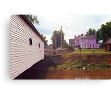 Elizabethton, TN, Covered Bridge and Mansion, 2008 Canvas Print