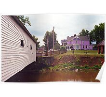 Elizabethton, TN, Covered Bridge and Mansion, 2008 Poster