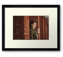 Tanya Wheelock as Peggy Carter (Photography by Markus Zimmerman, with Additional Editing by Tascha Dearing) Framed Print