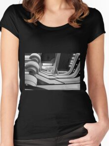 at the library Women's Fitted Scoop T-Shirt