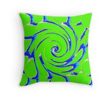 artsy in green Throw Pillow