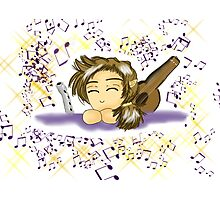 Adorable Chibi Gnome Bard Photographic Print