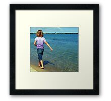 A Walk Along the Edge Framed Print