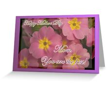You're the best - mothers day card  Greeting Card