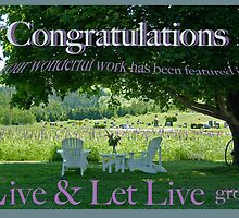 Live and Let Live group banner by Brenda Dow