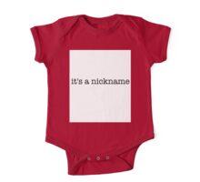It's A Nickname (UTD) One Piece - Short Sleeve