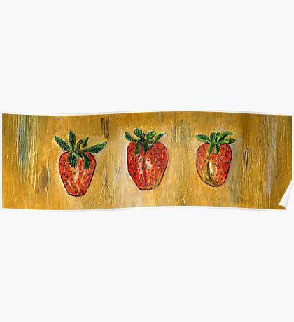 Erdbeeren Poster