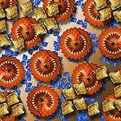 Hatian Patties Flowers Duvet by GolemAura