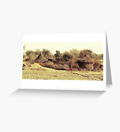 A Village in india. Greeting Card