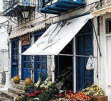 Village Produce Market - Island of Aegina,  Greece by T.J. Martin