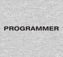 Programmer (Black Text) One Piece - Long Sleeve