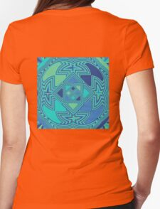 Ocean Ripples Womens Fitted T-Shirt