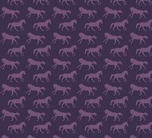 Purple Galloping Horses Pattern by PaintingPony