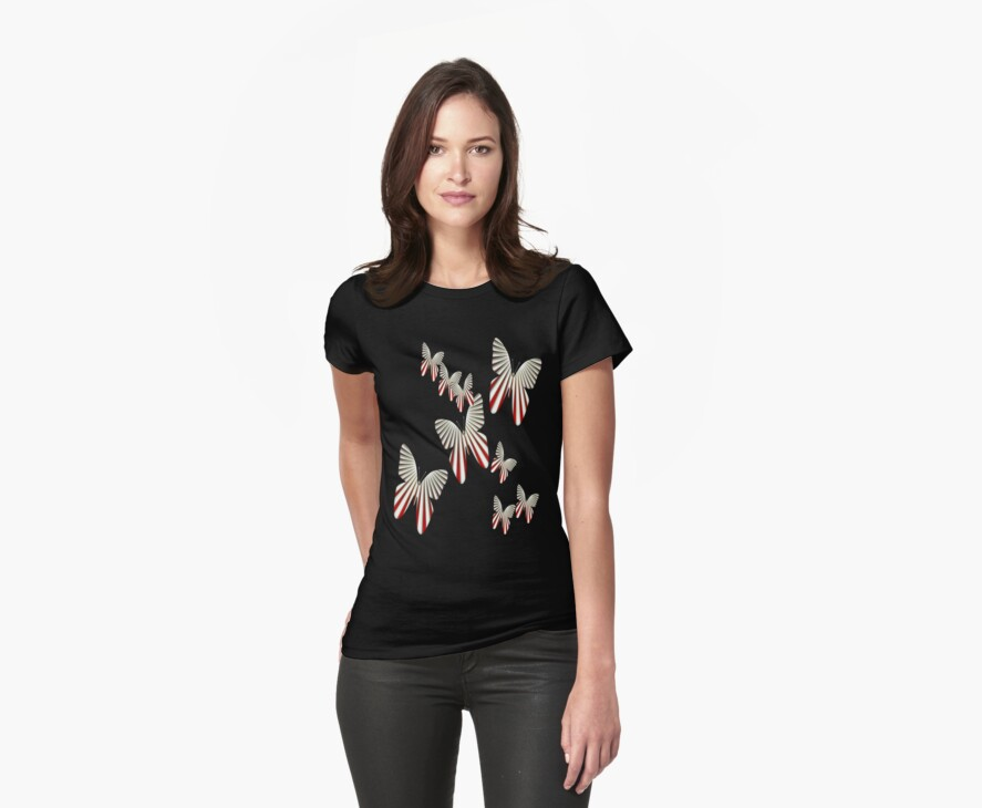 Fantasy Butterflies T Shirt by simpsonvisuals