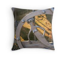 Steel Mermaid Throw Pillow