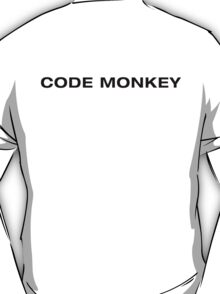 Code Monkey (Black Text) T-Shirt
